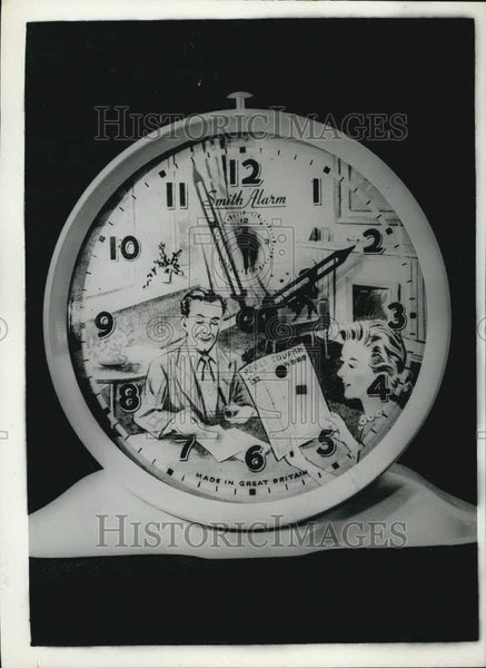 1956 Press Photo Football pools forcasting clock - Historic Images