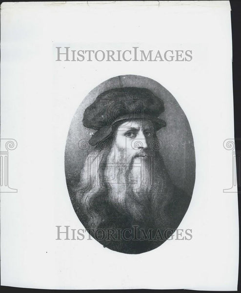 1914 Press Photo Illustration, Leonardo da Vinci - Historic Images