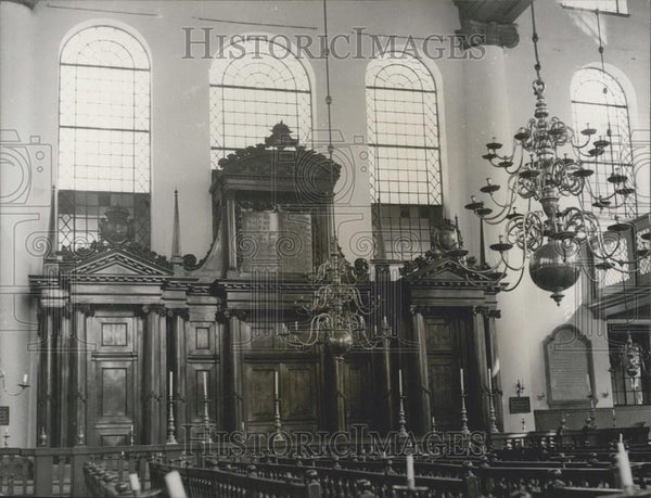 Press Photo Synagogue In Amsterdam Interior - Historic Images