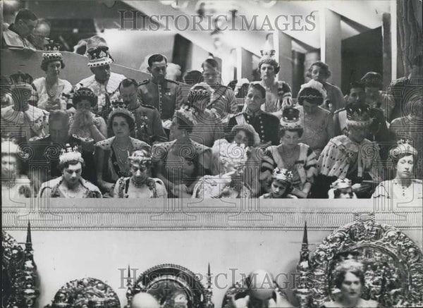 1937 Press Photo Queen Mary At Coronation of Grease VI - Historic Images