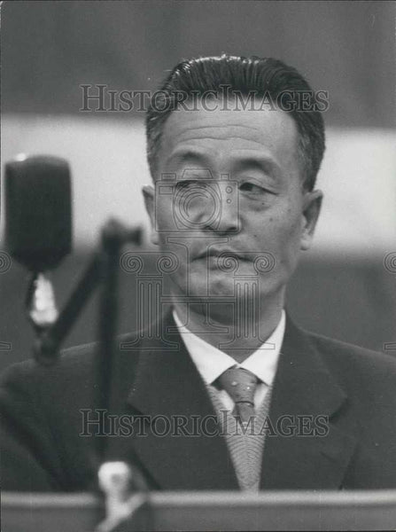 1962 Press Photo Chinese Delegate Chao Yi-Ming Congress Italian Communist Party - Historic Images