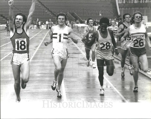 1974 Press Photo Steven Ovett Wins 800 Meter AAA Championships Crystal Palace - Historic Images