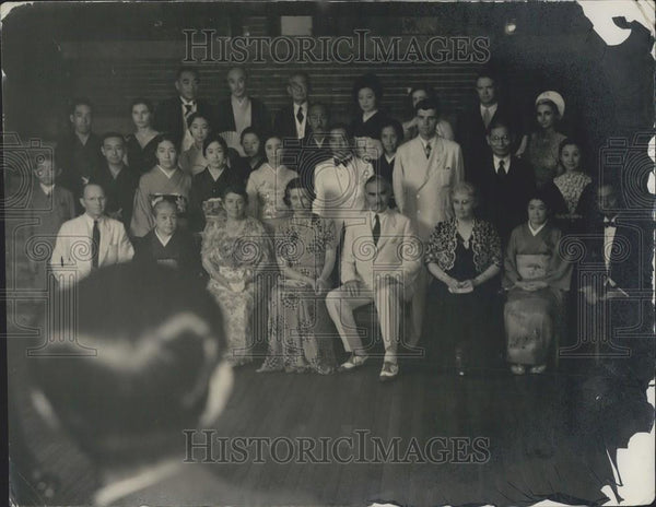 1940 Press Photo Nakahama-Whitfield Epic Souvenir Photograph-Imperial Hotel - Historic Images
