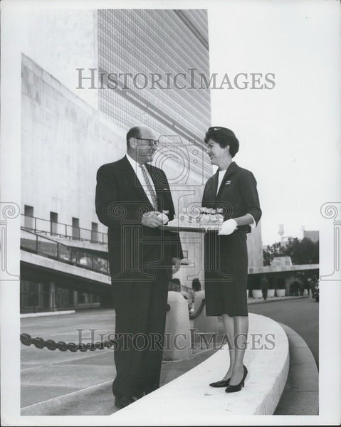 Press Photo Ambassador James J. Wadsworth at the UN - Historic Images