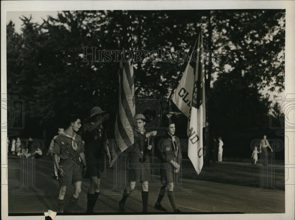 1938 Press Photo Color Guard - Historic Images