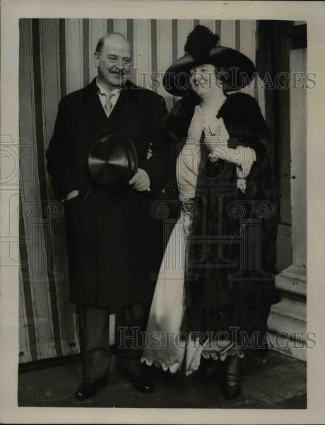 1922 Press Photo Alys Lorraine Weds Richard Northcott St George Hanover Square - Historic Images