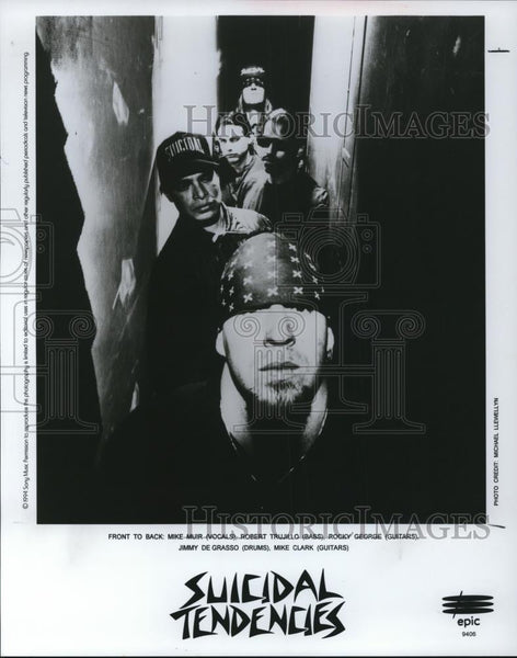 1994 Press Photo Mike Muir, Robert Trujillo, Rocky George of Suicidal Tendencies - Historic Images