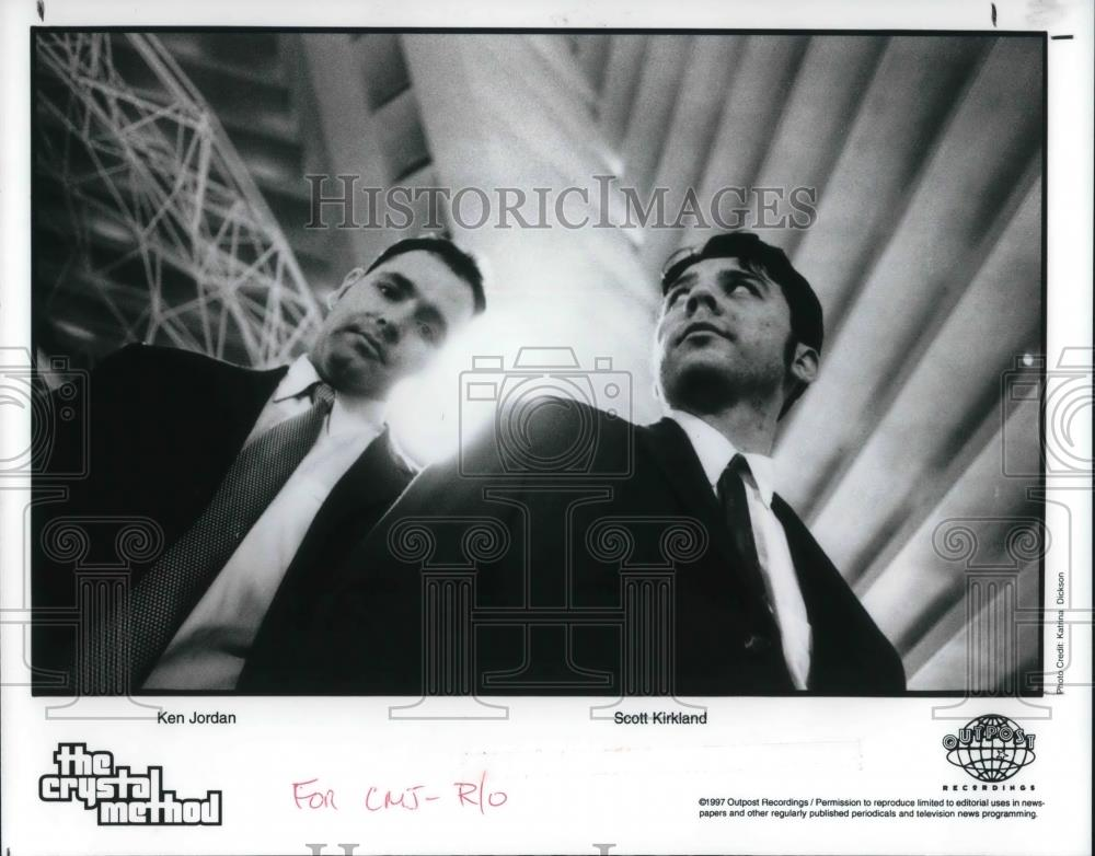 1997 Press Photo The Crystal Method Ken Jordan and Scott Kirkland - cvp22292
