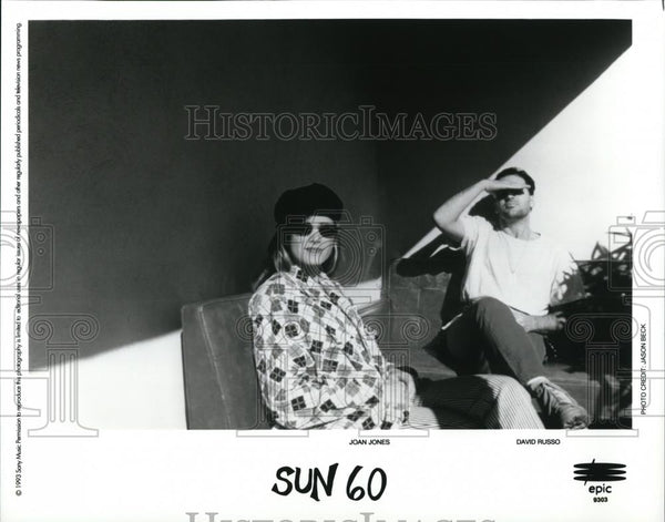 "1993 Press Photo ""Sun 60"" Joan Jones and David Russo - 802 - cvp28185 - Historic Images"