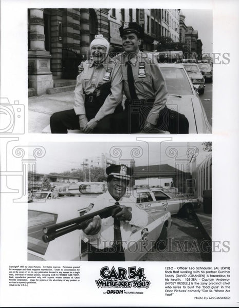 1994 Press Photo David Johansen in Car 54 Where Are You? - cvp27865 - Historic Images