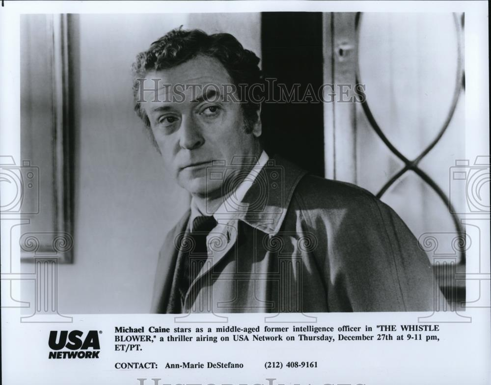 1991 Press Photo Michael Caine stars as Frank Jones in The Whistle Blower - Historic Images