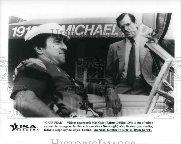 1997 Press Photo Robert DeNiro in CAPE FEAR - cvp23696 - Historic Images