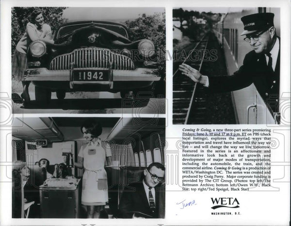 Press Photo Coming & Going WETA Washington TV transportation special - cvp23631 - Historic Images