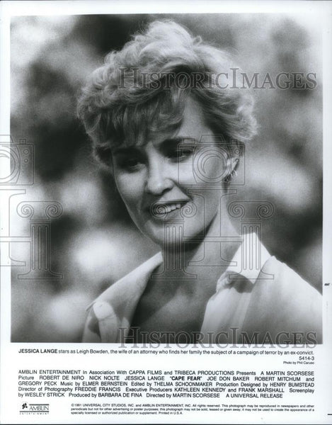 1991 Press Photo Cape Fear, Jessica Lange - cvp27902 - Historic Images