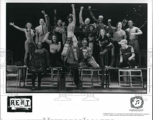 1997 Press Photo Cast of Rent - cvp23121 - Historic Images