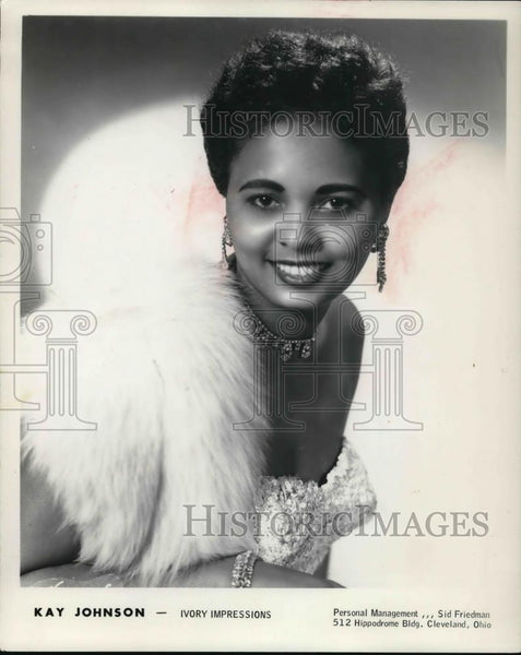 1964 Press Photo Kay Johnson, Cleveland pianist - Historic Images