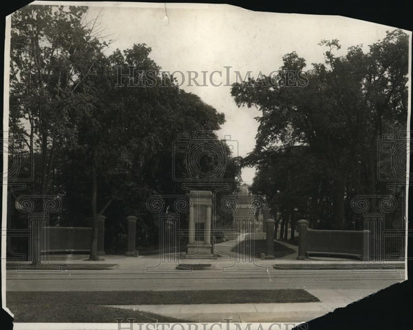 1923 Press Photo John Howard Payne Memorial at Union College - Historic Images