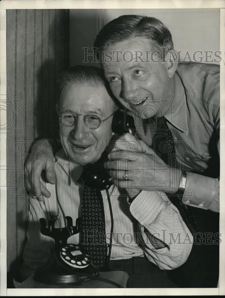 1936 Press Photo Charles W. Hutchinson & Father Horace, Irish Sweepstakes Winner - Historic Images