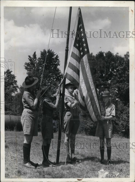 1939 Press Photo of L-R Omar Blackmon, Glenn Galias, Louis Litzler, and Robert - Historic Images