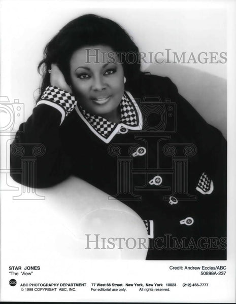 Press Photo TV Host Star Jones, The View from ABC - cvp22072 - Historic Images