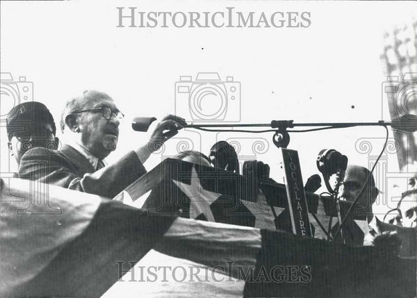 1949 Press Photo Israel President Chaim Weizmann at a conference - Historic Images