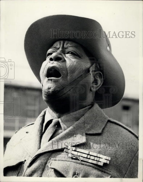 1953 Press Photo RSM Chari MaIgumeri, From the northern Cameroons - Historic Images