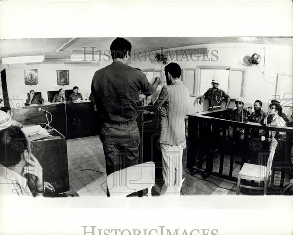 "Press Photo Japanese Red Army terrorist in court "" Kozo Okamoto - Historic Images"