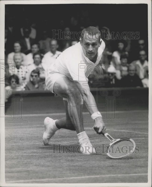 1959 Press Photo Wimbledon Tennis Championships, N.A Fraser (Australia) - Historic Images