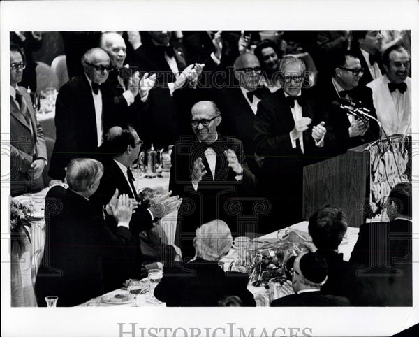 1977 Press Photo Israeli Premier Menahem Begin at Waldorf Astoria - Historic Images