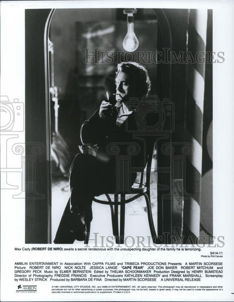 1991 Press Photo Cape Fear, Robert DeNiro - cvp27903 - Historic Images