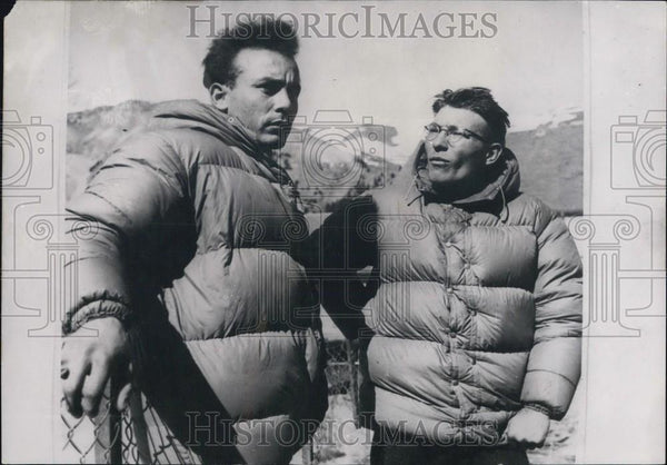 1953 Press Photo Mountain Climbers Jacques Dancet Jacques Merle Death Announced - Historic Images