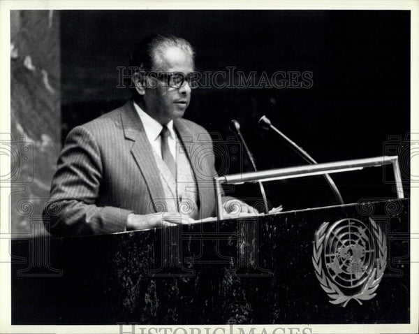 1984 Press Photo President Paul J.F. Lusaka, Permanent Representative of Zambia - Historic Images