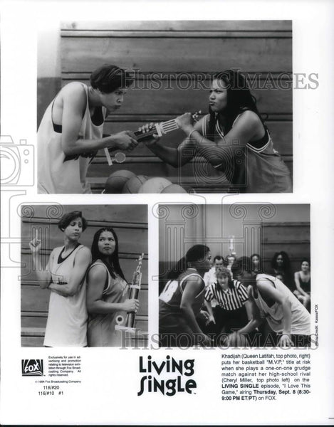 1995 Press Photo Queen Latifah & Cheryl Miller on Living Single - cvp21345 - Historic Images