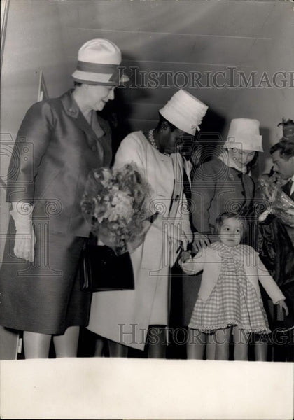1961 Press Photo Gabon's First Lady Mme Mba - Historic Images