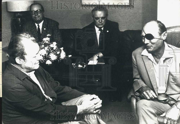 1973 Press Photo West German Chancellor Willy Brandt Interview General Datan - Historic Images