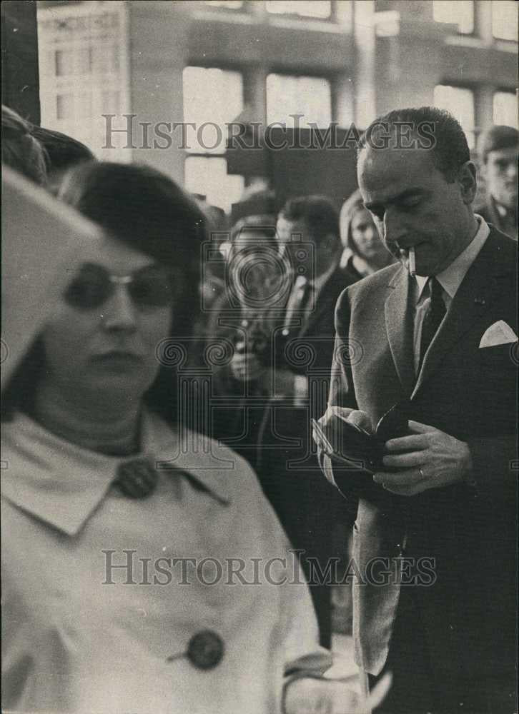 Press Photo Mr Van den Boeynants, former Prime Minister - Historic Images
