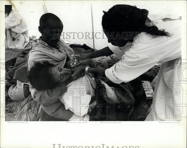 1984 Press Photo Drought Raging In Ethiopia - Historic Images