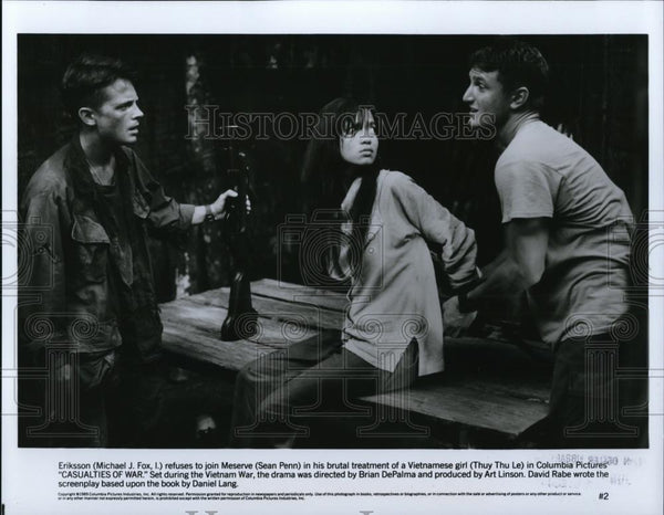 1990 Press Photo Sean Penn & Michael J Fox in Casualties of War - cvp28201 - Historic Images