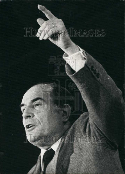 1980 Press Photo French Socialist party, Francois Mitterrand - Historic Images