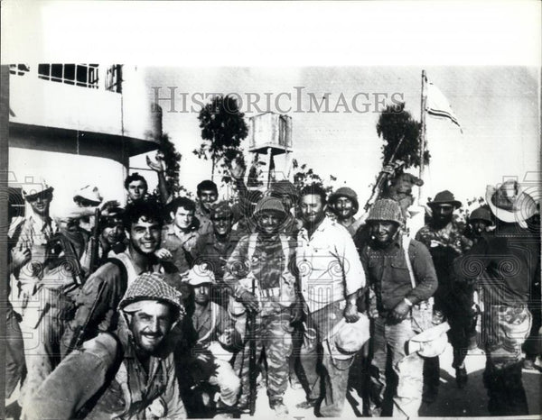 1967 Press Photo Closing In From All Sides Israeli Forces Make Capture - Historic Images