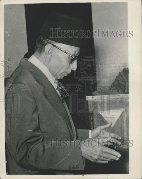 1953 Press Photo Dr.Ahmed El Nakid,Egypt - Historic Images
