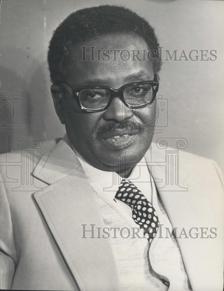 1975 Press Photo Antonio Agostinho Nata, President of MPLA,Angola - Historic Images