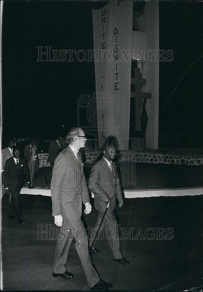 1975 Press Photo French President Giscard D'Estaing & Pres. Bokassa of Bengal - Historic Images