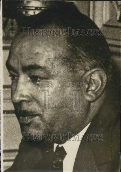 1962 Press Photo Mr Mali Sabry, Egyptian Minister of Affairs - Historic Images