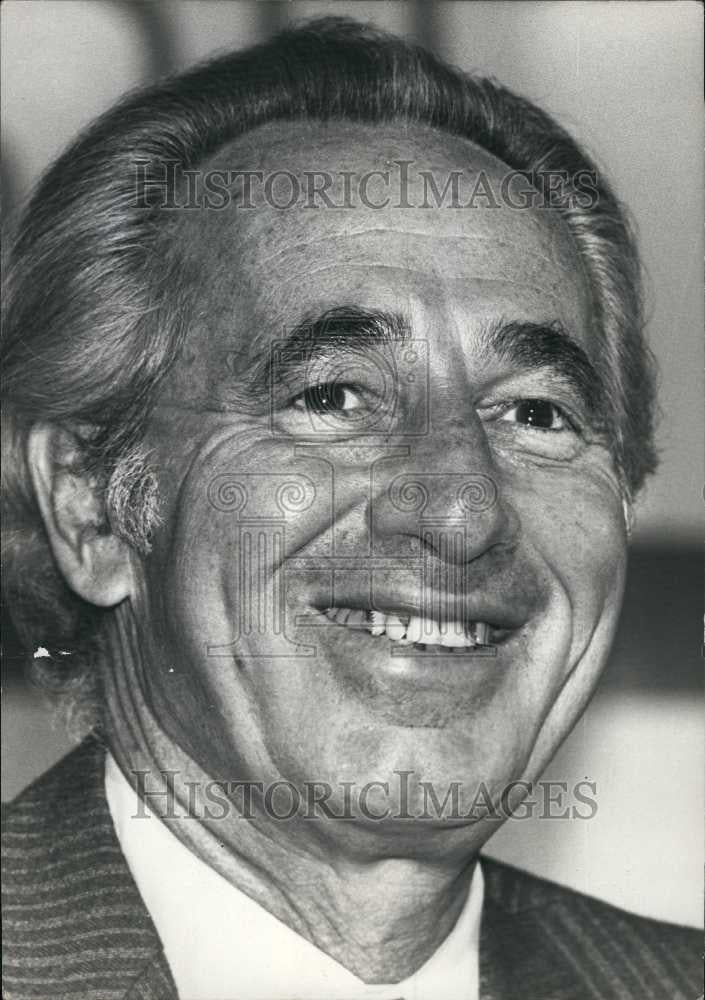 1978 Press Photo Shimon Peres Leader of the Labor Opposition of Israel - Historic Images