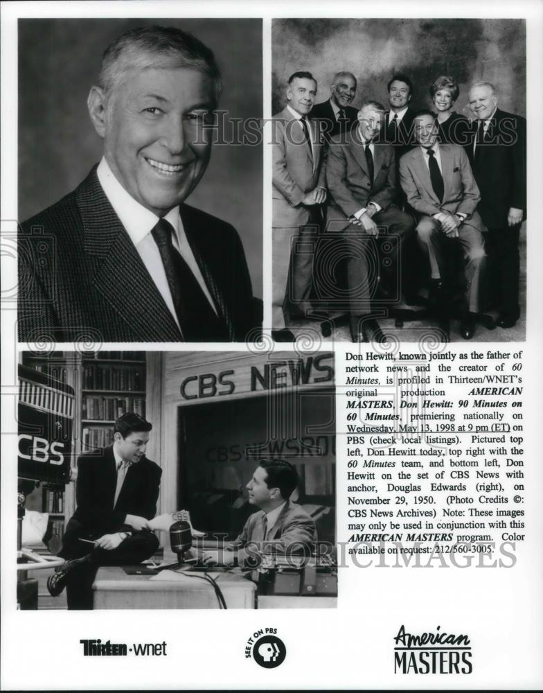 1998 Press P O Don Hewitt Producer And Douglas Edwards Anchor 60 Minutes Historic Images