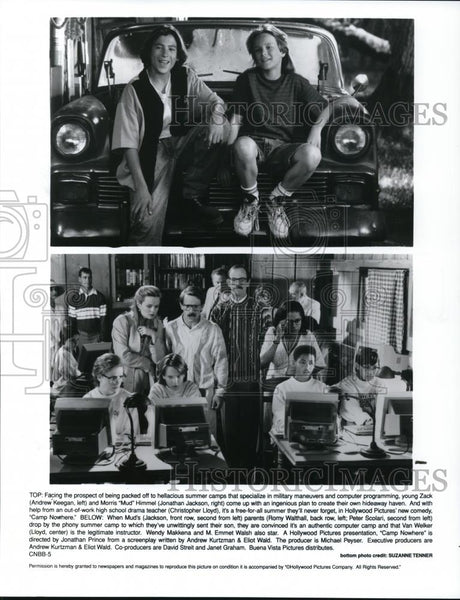 1994 Press Photo Andrew Keegan and Jonathan Jackson in Camp Nowhere - cvp28004 - Historic Images