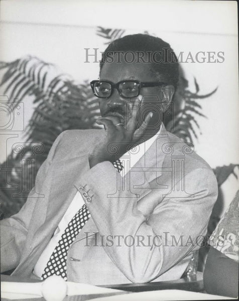Press Photo Dr. Antonio Agostinho Neto, Head of MPLA, Angola - Historic Images