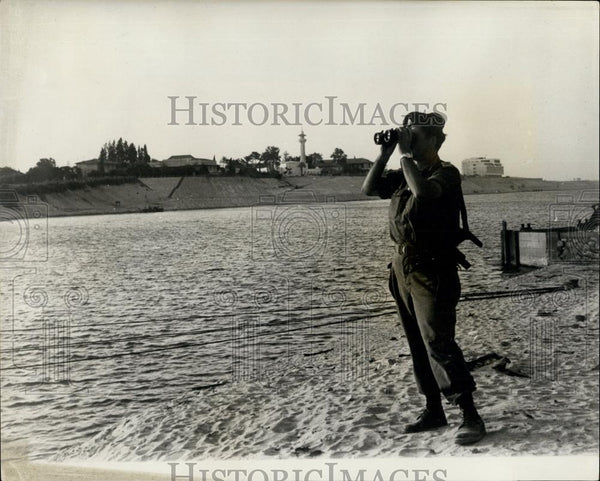 1967 Press Photo New View of the Suez Canal - Historic Images