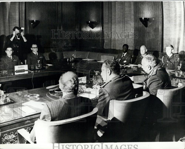 1973 Press Photo Israelis and Egyptians make progress in Geneva peace talks - Historic Images